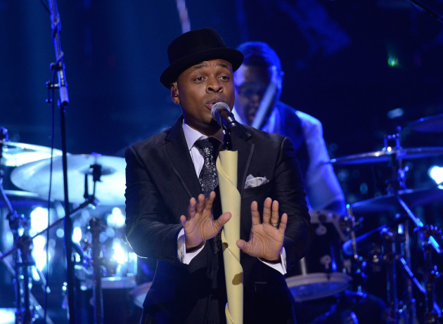 Stokley Williams and Mint Condition, including drummer Brandon Commodore, perform two songs for Monday night's BET Honors. / Courtesy BET