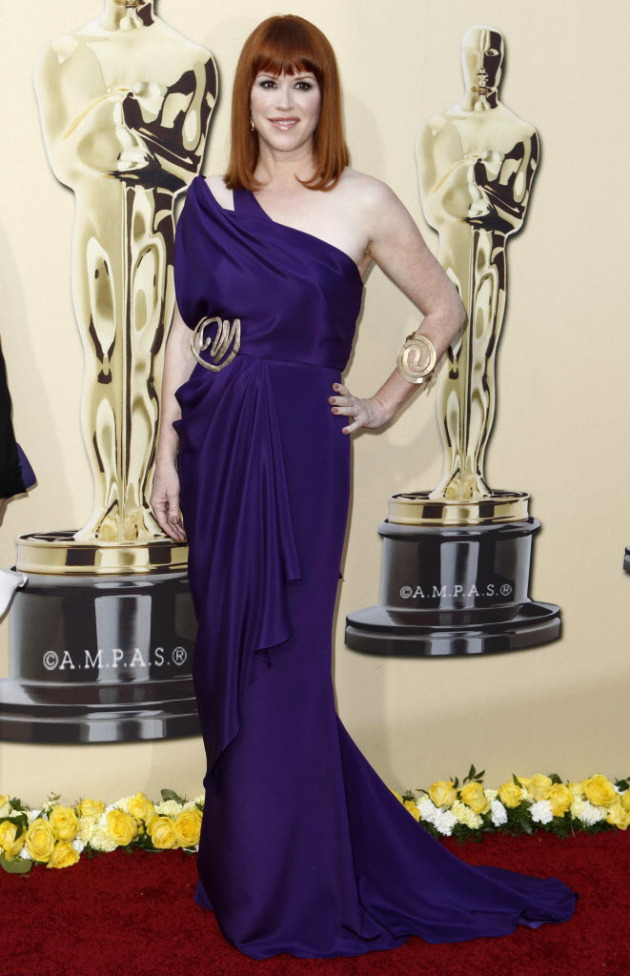 Ringwald at the Oscars in 2010, the year they paid tribute to John Hughes.