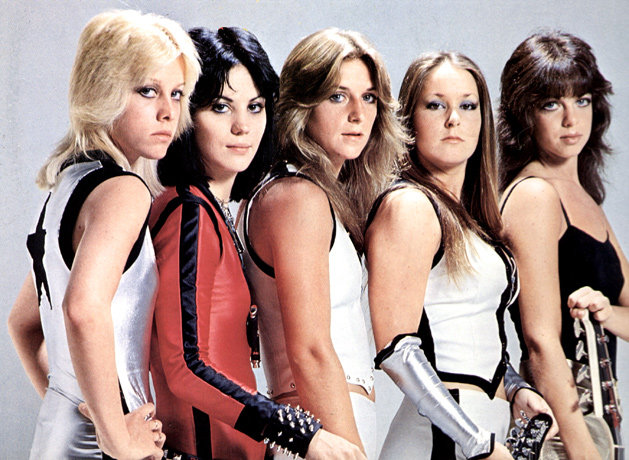 Cherie Curry, far left, in her days with the Runaways with Joan Jett (second from left) and Lita Ford (second from right).