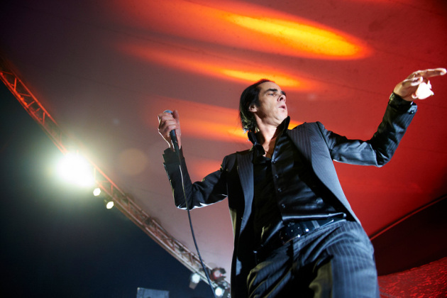 Nick Cave haunted the stage during Wednesday's opening song &quot;Higgs Boson Blues.&quot; / Tony Nelson photo
