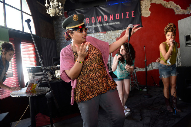Lizzo of the Chalice worked the crowd alongside Claire de Lune and Sophia Eris an early-afternoon day party Thursday in Austin, Texas. / Photos by Tony Nelson