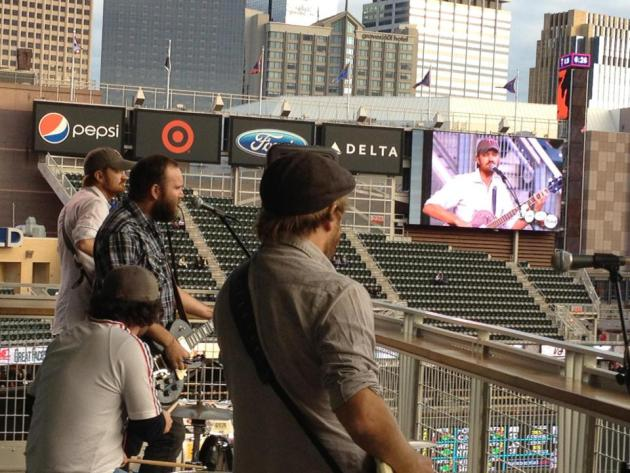 The 4onthefloor played Target Field last September and were smart to return in May instead this year (when there's sure to be a few more people in the stands). / Photo by Mike Minehart, courtesy 4otf
