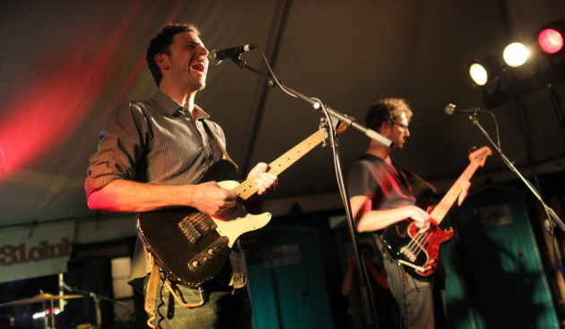Vicious Vicious, with Erik Appelwick and James Buckley, performed in the 331 Club's outdoor tent during last year's Art-a-Whirl festivities. / Tom Wallace, Star Tribune