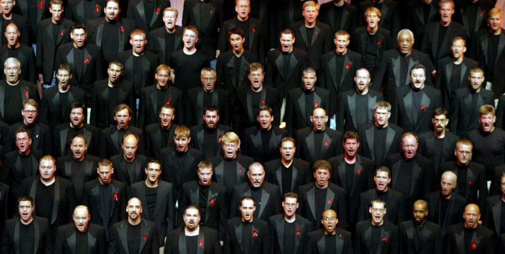 Members of the Twin Cities Gay Men's Chorus will join an all-star concert in downtown St. Paul on Tuesday celebrating the passage of the Freedom to Marry Bill. / Star Tribune file
