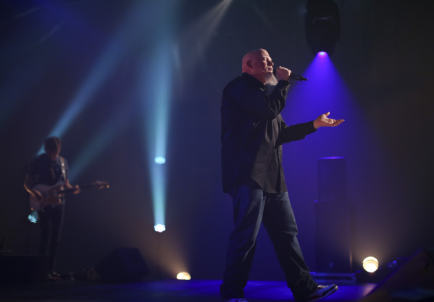 """Brother Ali lit up for the TV cameras at the TPT Studios in St. Paul for the second episode of """"Lowertown Line,"""" which will air in September. / Jeff Wheeler, Star Tribune"""
