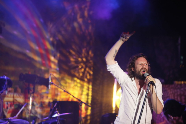 Father John Misty (aka Joshua Tillman) was animated but also sometimes agitated in his sold-out First Avenue concert Tuesday. / Jerry Holt, Star Tribune