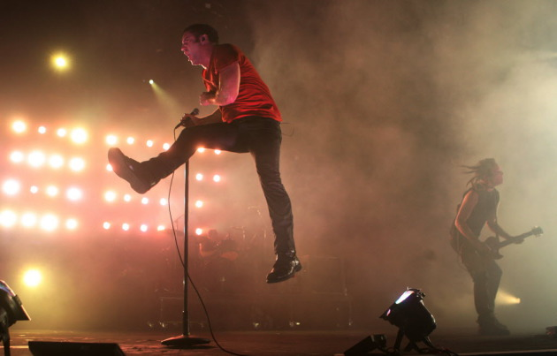 Trent Reznor's last jump through town was for a Nine Inch Nails show at Target Center in 2008. / Jerry Holt, Star Tribune