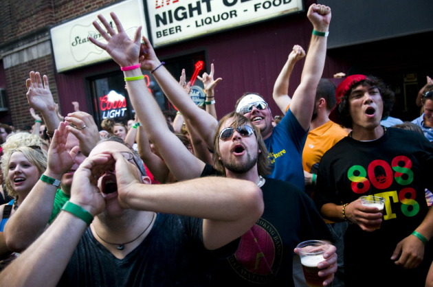 Fans packed the outside of Station 4 in 2010 for the Lowertown Music Festival, around the time the area was ripped up for light-rail construction. / Star Tribune file