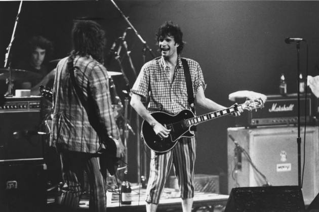 Paul Westerberg, right, and Tommy Stinson faced off at First Avenue in 1987, and there's a chance they'll do it again at Chicago's Riot Fest in 2013. / Brian Peterson, Star Tribune file