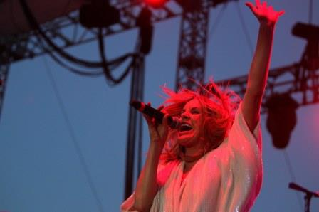 Grace Potter got two kinds of heavy Friday at the Basilica Block Party with a Black Sabbath cover and a heartfelt ballad. / Photos by Anna Reed, Star Tribune