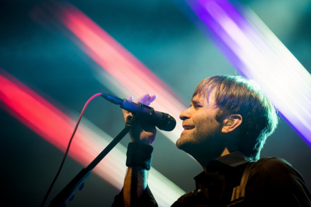 Ben Gibbard was at his most colorful on Friday with the Postal Service. / AP Photo/seattlepi.com, Jordan Stead