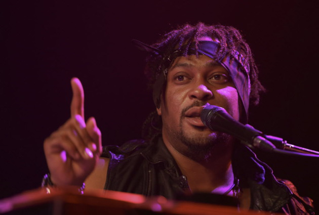 D'Angelo played a comeback concert with ?uestlove at First Avenue in June, but Tuesday's show was to feature a full band.. / Jeff Wheeler, Star Tribune