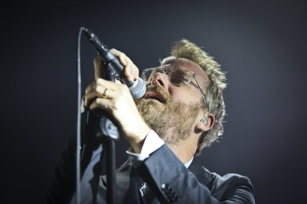 Matt Berninger lightened up between songs at Roy Wilkins Auditorium on Tuesday, and opened up earlier in the day at 89.3 the Current. / Renee Jones Schneider, Star Tribune