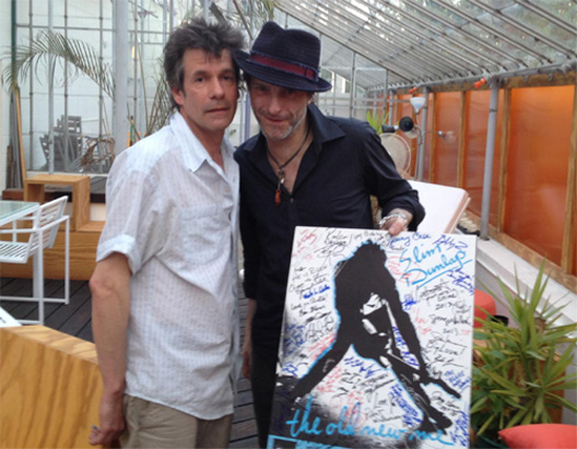 Paul Westerberg and Tommy Stinson recently signed a poster benefiting Slim Dunlap's recovery from last year's stroke. / Courtesy Jon Clifford