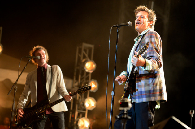 Tommy Stinson, left, and Paul Westerberg looked to be having a grand ol' time at RiotFest in Toronto on Sunday. / Photo by Tony Nelson for Star Tribune