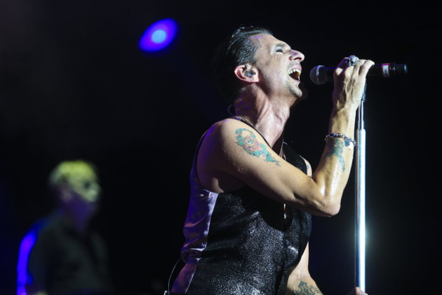 Dave Gahan and Depeche Mode leaned heavily on their new album in Tuesday's State Fair grandstand concert. / Renee Jones Schneider, Star Tribune