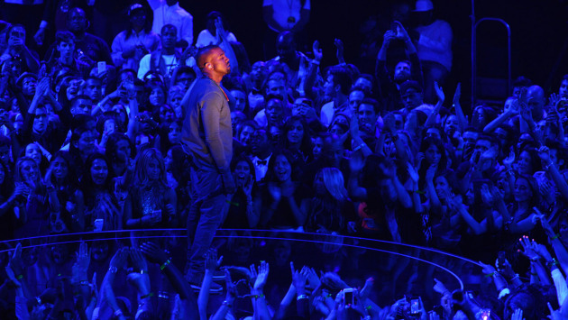 Kanye West glowed again at MTV's Video Music Awards again last week, which set up this week's surprise tour announcement. / Photo from MTV