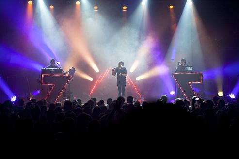 Scottish newcomers Chvrches lit up and sold out First Avenue on Monday. / Photo by Leslie Plesser