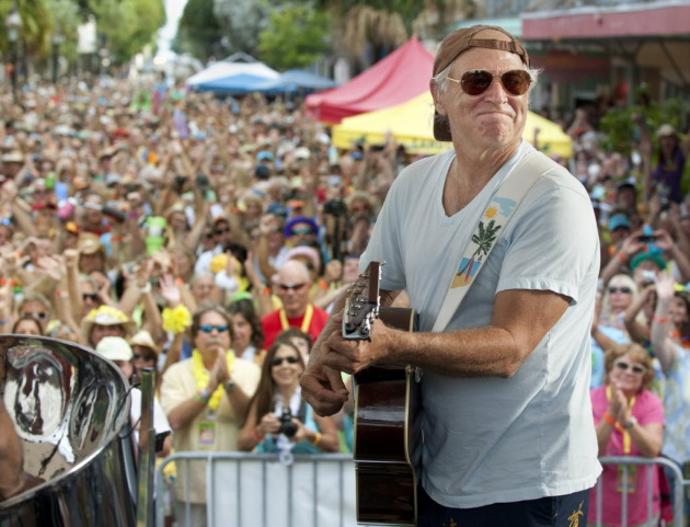 Jimmy Buffett performed to fans that swarmed Key West, Fla., in 2011 for the Parrotheads Convention. / AP Photo, Rob O'Neal