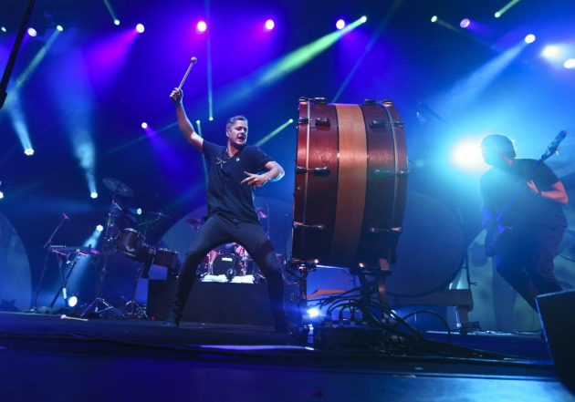 Dan Reynolds did a smash-bang job with Imagine Dragons two weeks ago at Roy Wilkins Auditorium, but is the band ready for arenas? / Renee Jones Schneider, Star Tribune