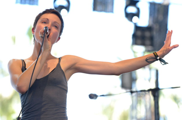 "Channy Leaneah and Polica started building the hype for their second album in April with appearances at the Coachella Music Fest and the release of the first single ""Tiff."" / John Shearer, Invision/AP"
