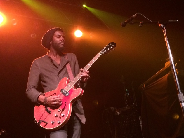 "Gary Clark Jr. played his red Epiphone and stuck to the blues through a majority of his local debut set Wednesday at First Avenue. / Photo by Tim ""Shooter"" Campbell, Star Tribune"