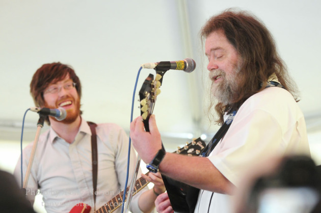 Roky Erikson, right, performed with Will Sheff and Okkervil River during the 2010 South by Southwest Music Conference in Austin, Texas. / Photo by Tony Nelson