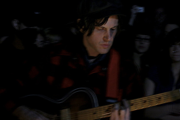 The elusive Jeff Mangum at an Occupy Homes event a few years back. / Photo by Cory Greenwell
