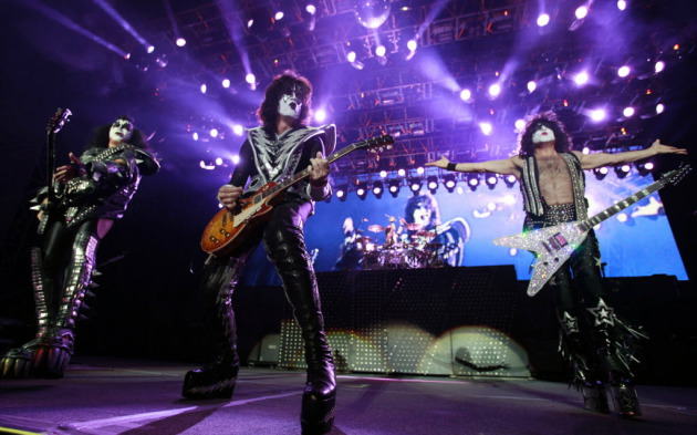 Ace Frehley's replacement Tommy Thayer led what's left of Kiss at the Minnesota State Fair grandstand in 2012. / David Joles, Star Tribune
