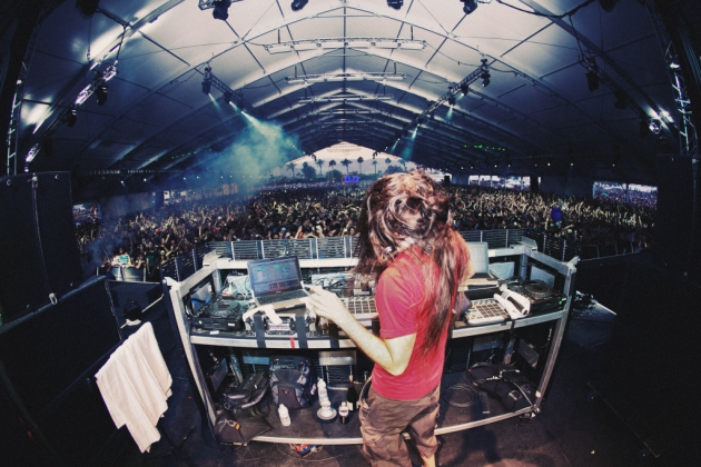 Bassnectar, aka Californian electronic music maker Lorin Ashton, has been a favorite at Coachella and other big fests. / Photo by Ceasar Sebastian
