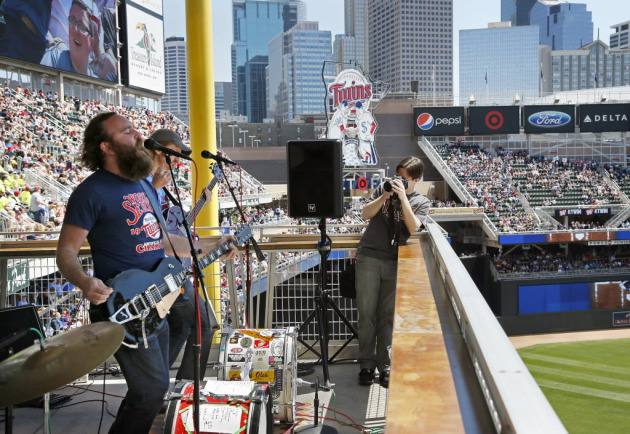 The 4onthefloor was one of the first bands to play the Twins' Midwest Music Showcases last summer at Target Field. / Brian Peterson, Star Tribune