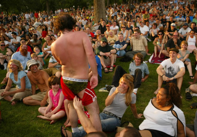 Har Mar Superstar beat the summer heat in a prior year of the Walker's Summer Music & Movies series. / Jeff Wheeler, Star Tribune