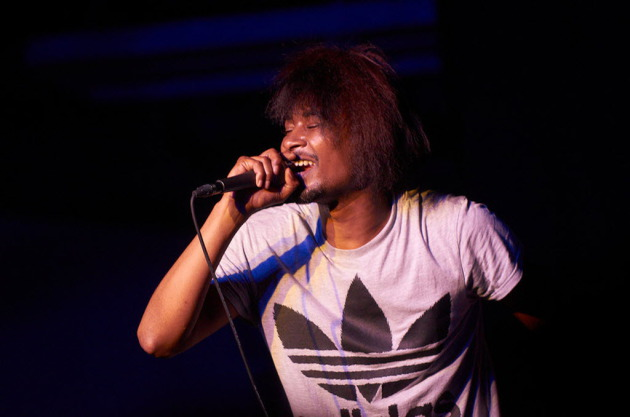 Detroit rapper Danny Brown, shown here at 2012's South by Southwest Music Conference, won't be as up close to the audience at the Summer Set fest. / Photo by Tony Nelson