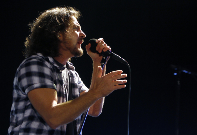 Eddie Vedder is still alive; he and Pearl Jam just haven't played the Twin Cities since 2006. / AP Photo/Robert E. Klein