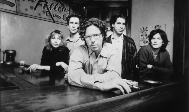 The Jayhawks circa 1997, with (from left) Karen Grotberg, Tim O'Reagan, Gary Louris, Marc Perlman and Kraig Johnson. / Photo by Marina Chavez