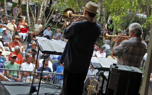 Mears Park in downtown St. Paul, shown here during the 2012 Twin Cities Jazz Festival, will also host a new blues fest and the weekly Music in Mears series this summer. / Marlin Levison, Star Tribune