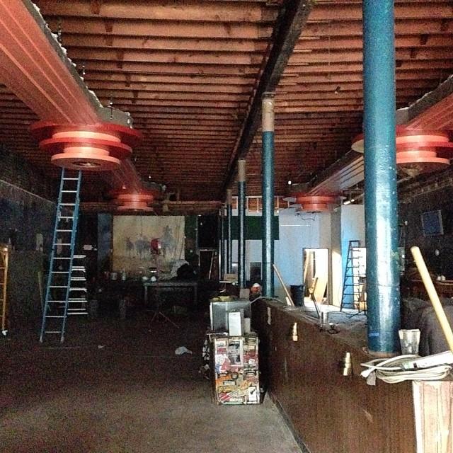 A glimpse inside during renovations. / Photo courtesy Dayna Frank