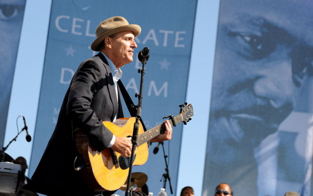 James Taylor performed at the 2011 dedication ceremony at the Martin Luther King Memorial in Washington, D.C. (Olivier Douliery/Abaca Press/MCT)