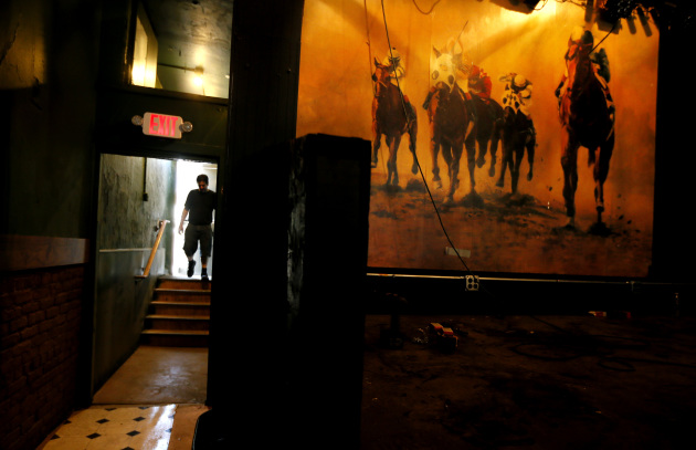 "The ""new"" mural behind the stage, which was hidden for decades. / Jerry Holt, Star Tribune"
