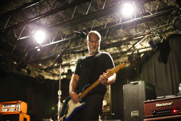 Bob Mould rehearsed with his band Sunday afternoon in 7th Street Entry before a surprise gig that night, much of which harked back to the fast-and-furious shows of his old band Hüsker Dü. / Jeff Wheeler, Star Tribune
