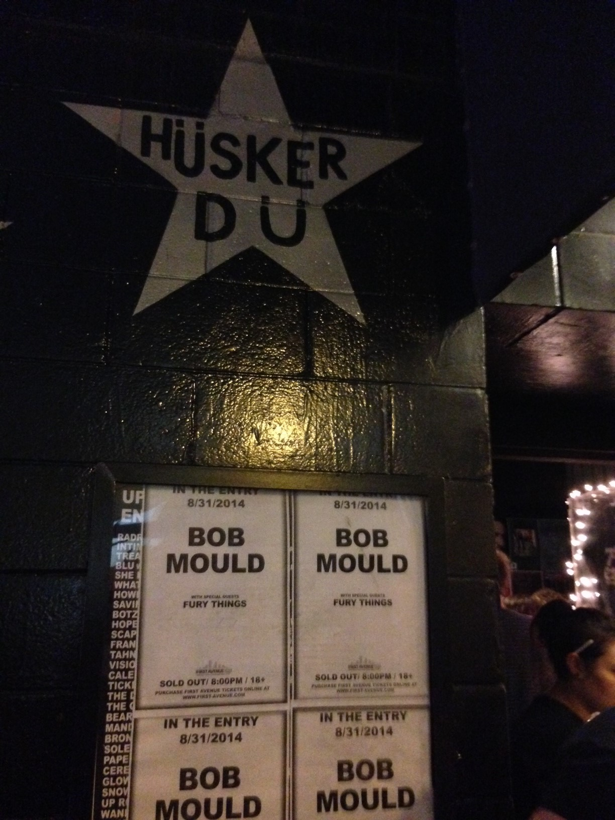 The star for Mould's old band is not-so-coincidentally right next to the 7th Street Entry door.