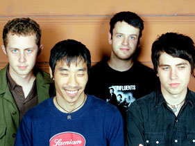 The Crush circa 2002, with Richardson at far left.
