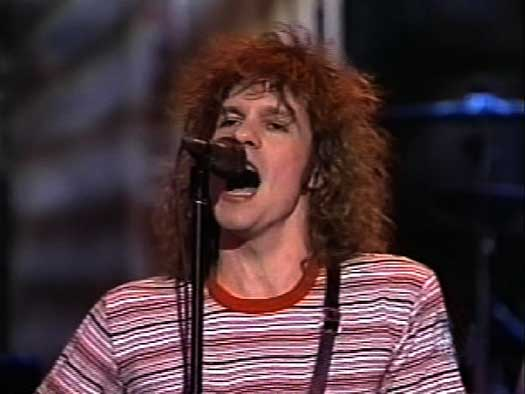 """Paul Westerberg the last time he performed in NBC's 30 Rockefeller Center in 1986, when the Replacements played """"Saturday Night Live."""""""