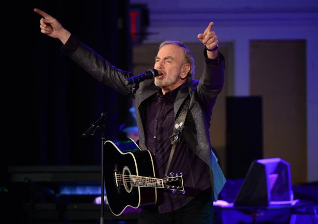 Neil Diamond performed Monday night at Emarus Hall High School in Brooklyn, N.Y., his alma mater. / Photo by Evan Agostini/Invision/AP
