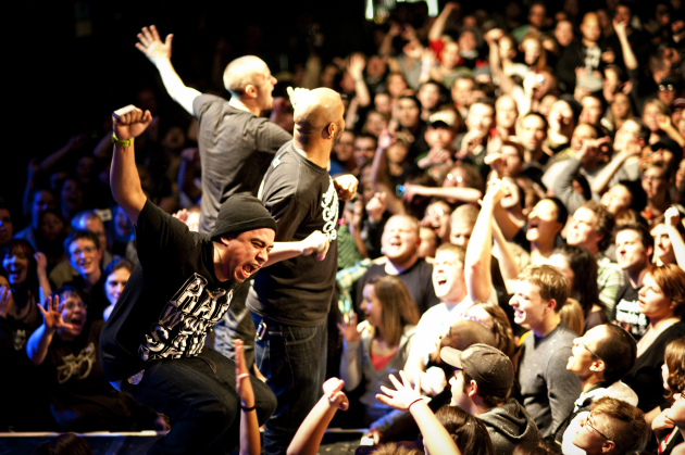 A view to a killer show: Doomtree's 2010 Blowout at First Avenue. / Photo by Leslie Plesser