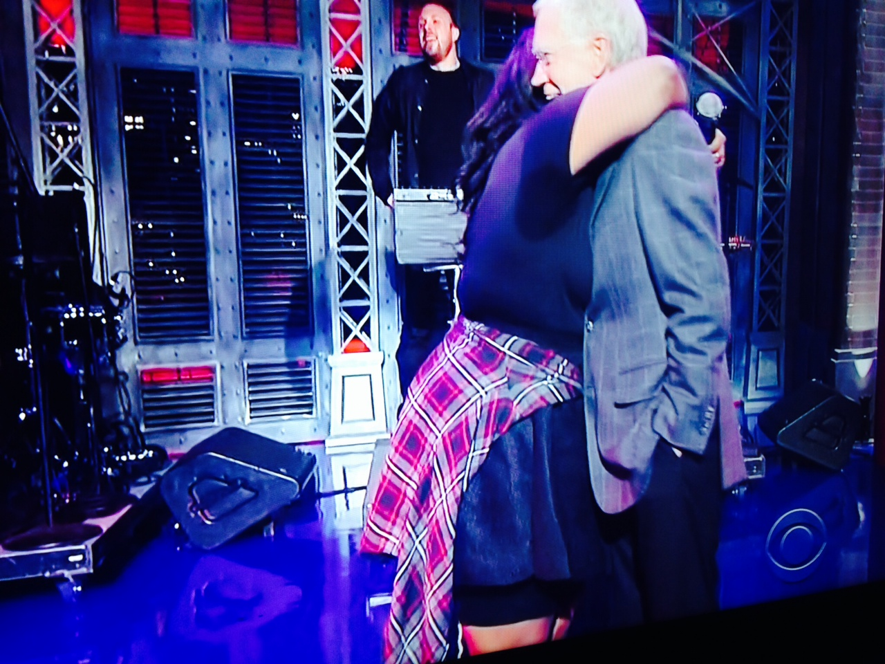 Lizzo going in for the thrill with David Letterman.
