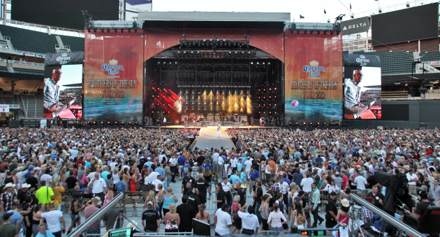 The view of the stage the first time Kenny Chesney took over Target Field in 2012. / Marlin Levison, Star Tribune