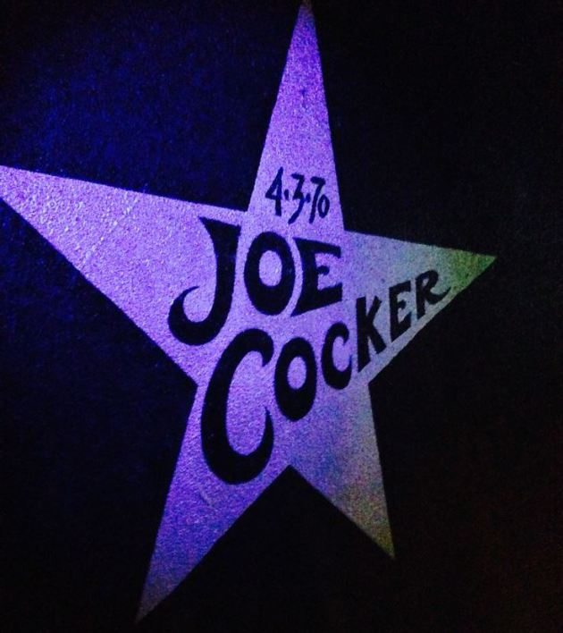 Cocker's star on the wall inside First Avenue.