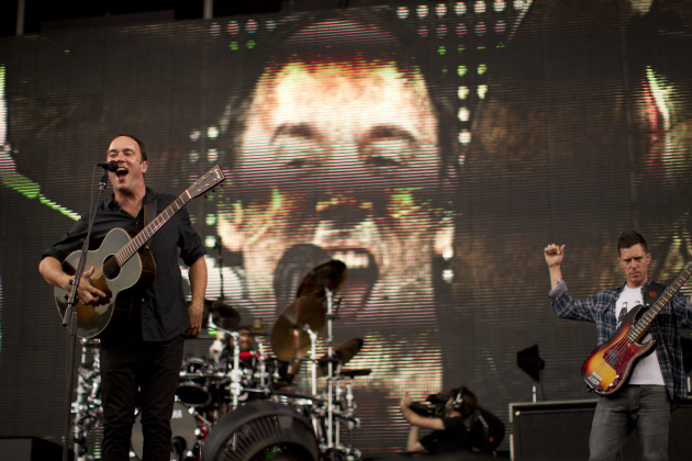 Dave Matthews had a big head playing to 25,000 fans at River's Edge Fest in downtown St. Paul hist last time in town in 2012. / Jeff Wheeler, Star Tribune