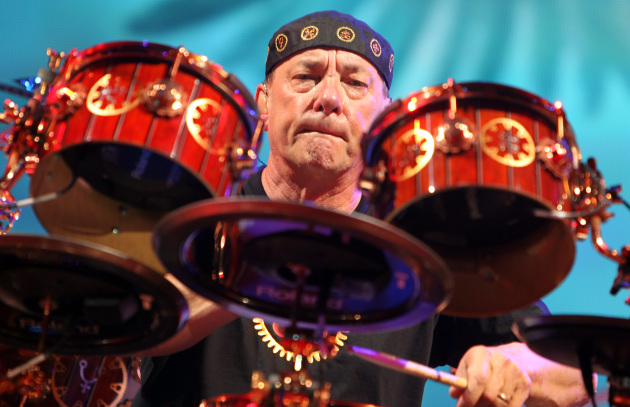 Neil Peart messed up a lot when Rush played Target Center in 2012. Not really. His precision was godly, as usual. / Star Tribune file